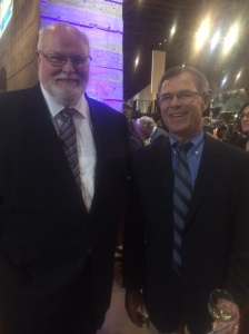 Left to right: Senator Jim Beall and Mike Cooper (AECOM/URS)