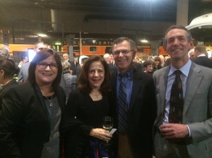 Left to right: Mary Erchul (Ghirardelli Associates); Ann Gust Brown; Mike Cooper (AECOM/URS); and Bruce Presser (Covello Group) listen to the Governor speak at his inauguration.