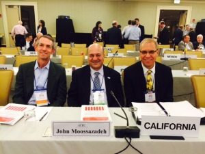ACEC California President Bruce Presser (from The Covello Group), John Moossazadeh (from Kleinfelder) & ACEC California Executive Director, Brad Diede, at ACEC National's annual conference in Boston